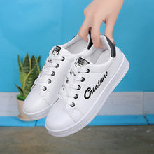 Round Tip Lace Up Fashion White Casual Shoes for Women