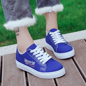 Women's Fashion Casual Shoes with Letters Embroided
