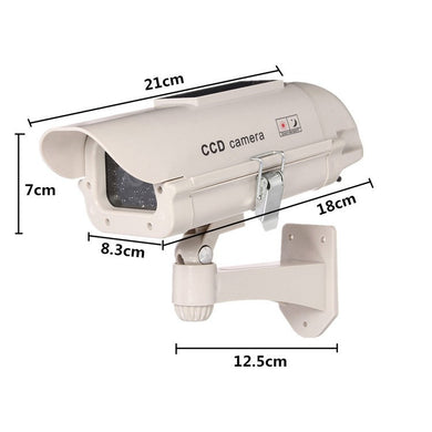 Solar Power Fashion Simulation Camera New Type Fake Monitoring With Light