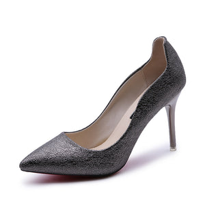 Women's Autumn New Elevator Shallow Shoes with Pointed High-heeled  Shoes(1 pair)