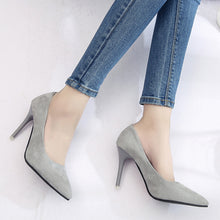 Solid Color Pointed Fine with High Heels for Women(1 pair)
