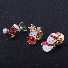 Winter Christmas Design Rhinestone Women Brooches and Pins 3 pcs/set