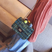 Winter Casual Chainbag with Colorful Ball Top Decoration