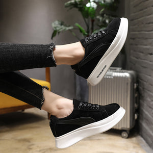 Thick Shoe Sole Casual Black Shoes for Women
