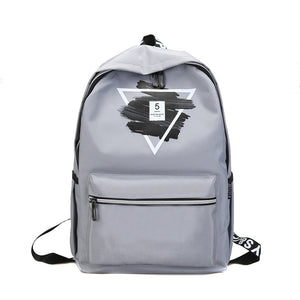 Triangle Design Campus Fashion Big Capacity Backpack