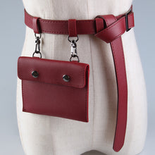Alloy Buckle Solid Color Belt with Clutch Attached