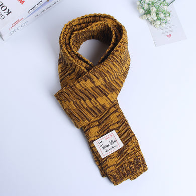 Mixed Colors Men's Knitting Scarves