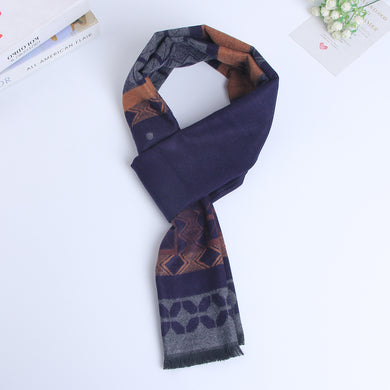 Navy Color Men's Winter Warm Keeping Scarves for Business Occassion