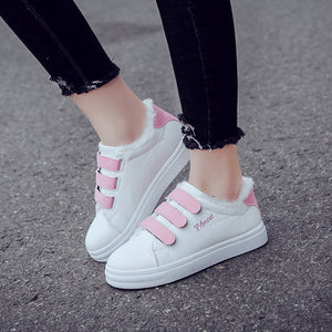 Velcro Closure Color Contrast Casual Shoes for Women