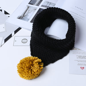 Acrylic Fiber Scarves with Threads Ball Pendant for Kids