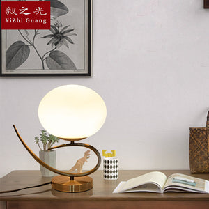 New Arrivals Led Glass Desk Lamp Noridc Minimalism Round Moon Brass Led Table Lamp For Reading