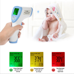 Digital Thermometer Infrared Baby Adult Forehead Non-contact Infrared Body Temperature Measure Care Tool 3-Color Backlight