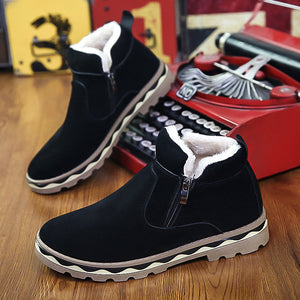 New Warm Snow Boots For Men's Casual Korean Fashion Chain Men's Shoes Anti-Skid And Cotton Shoes