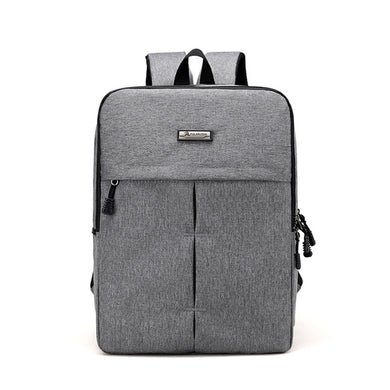 16 inches Solid Color Double Layers Laptop Backpack