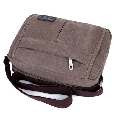 Men's Single Shoulder Messenger Bag Retro Canvas Handbag Business Bag Business Bag Gift Order Wholesale
