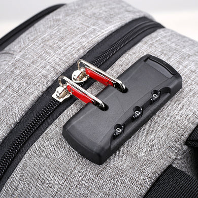 Anti-Theft Men Fashion Laptop Bag with External USB Charger