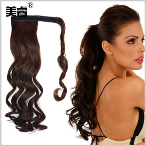 Solid Color Big Body Wave Pony Tail Clip-in Hair Extension