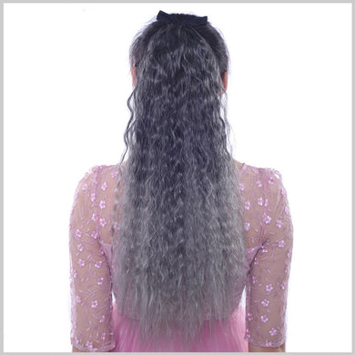 Off Color Small Bushed Out Perm Clip-in Pony Tail Hair Extension