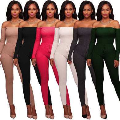 Strapless High-stretch Thread Long-sleeved Jumpsuits for Women