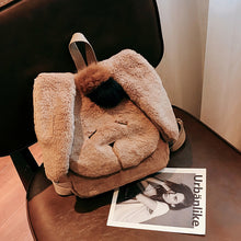 Plush Rabbit Hair Cute Warm Schoolbag Ladies Backpack