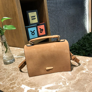 Solid Color Square Shape Fashion Simple Design Crossbody Bags