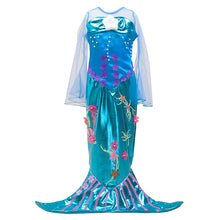 Mermaid Princess Party Cosplay Costume Long Dress Up