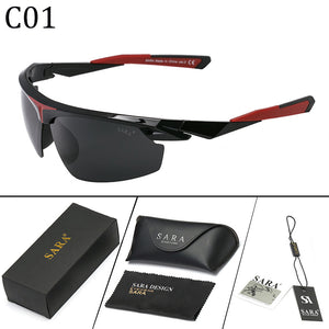 New Outdoor Sports Polarized Sunglasses Men And Women Driving Sun Glasses Oculos de so Eyewear With Leather Box