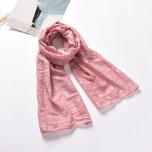 Fish Bone Pattern Cotton and Linen Blends Child's Scarf