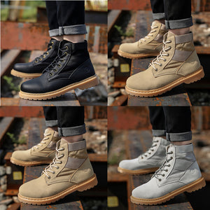 Fashionable And Handsome Stitching High Help Men's Shoes Leisure Outdoor Anti-Skid Line Wholesale Men's Boots