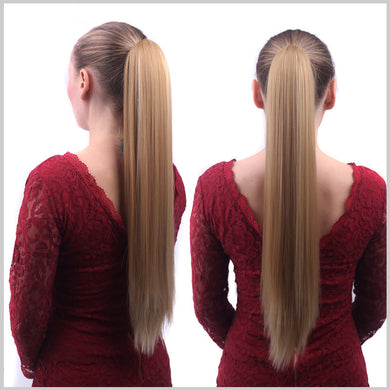 Clip-in Long Straight Pony Tail Hair Extension for Women
