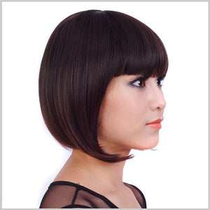 Bobo Hairstyle Wigs Natural Hair Color