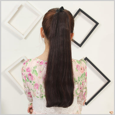 Nut Brown Straight Clip-in Pony Tail Hair Extension