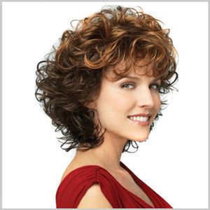 Natural Two-Color Gradient Short Hair Wigs