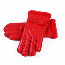 Solid Color Bow Detailed Cuffs Women's Gloves