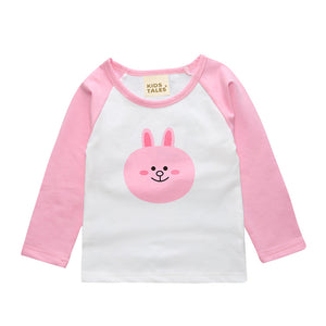 Newborn Baby Boy Girl Clothes Fashion 2018 Summer Cartoon Bear Long Sleeve T-Shirt Children'S T Shirt Cotton Cute Kids Tee Tops