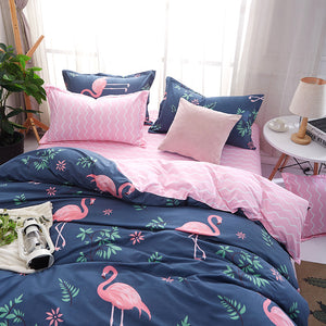 Flamingo Pattern Soft and Luxury Beddings Set