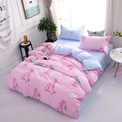Pink Panther Pattern Soft and Luxury Beddings Set