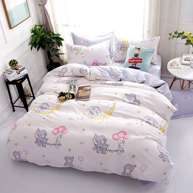 Flying Elephant Pattern Soft and Luxury Beddings Set