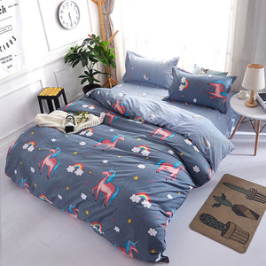Rainbow Pony Pattern Soft and Luxury Beddings Set