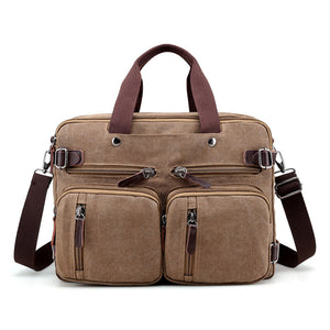 New Men's Business Casual Shoulder Large Capacity Travel Computer Bag Multi Layer