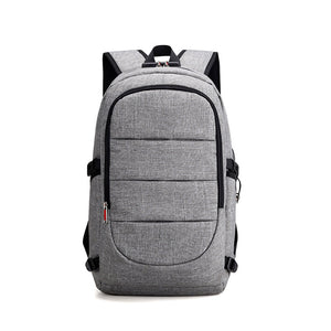 Business Trip Outdoor School Fashion Backpack with External USB Port