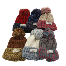 Casual Knit  Korean Version of Autumn and Winter Wool Stickers Warm Hat