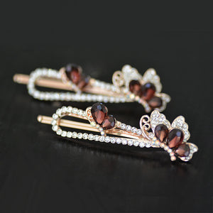 Hot Style Hairpin Korean Fashion Crystal Crown Shape To Clip A Clip Of Trendy Hair Accessories