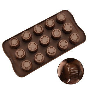 Silicone Round Ice Biscuit Chocolate Mold Mousse, Pudding Kitchen Appliance