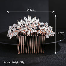 Happy Jewelry Korean Version Of The Simple Comb Inserted Into The New Alloy Bride Hair Combs