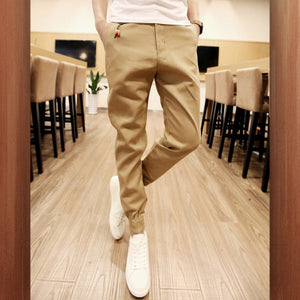 Slimline Jogger Solid Color Men's Casual Pants