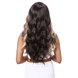 Fashionable Wig Ladies Gradient Color Long Hair Wig