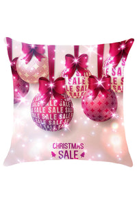 Christmas Bowknot Balls Pattern Pillow Cover