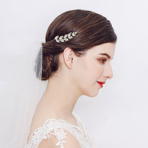 Crystal clear crystal Rhinestone Hair Combs Bridal Wedding Hair Jewelry Accessories Gold Hair Jewelry for Bride