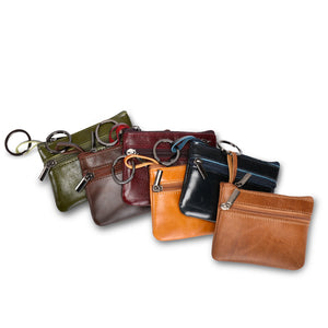 Solid Color Multi-functional Change Pocket Coin Purse Card Holders
